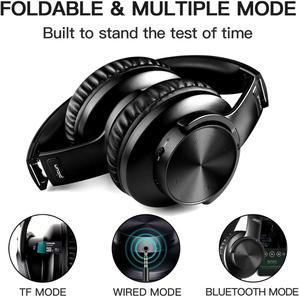 Image 5 - B8 Bluetooth 5.0 אוזניות 40H לשחק זמן מגע שליטה אלחוטי אוזניות עם מיקרופון על אוזן אוזניות TF אוזניות עבור טלפון מחשב