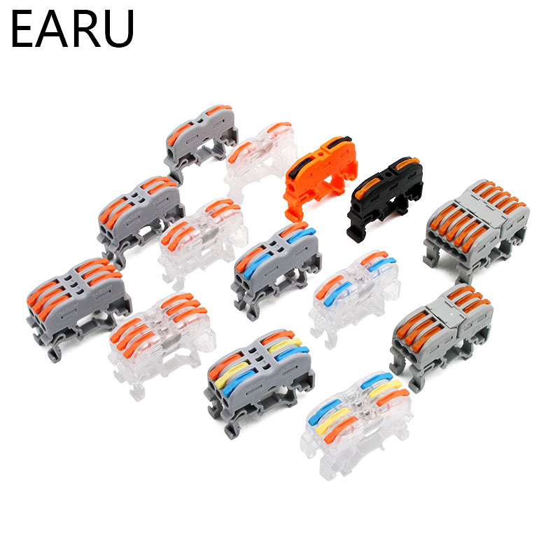PCT-211 PCT-511 Din Rail Type Quick Fast Cable Wiring Connection Terminal Press Type Connector Instead Of UK2.5B Terminal Block