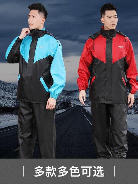 Nylon Electric Motorcycle Raincoat Rain Pants Suit Rain Coat Jacket Adult Rain Suit Men Thicken Double Casaco Masculino Gift 3