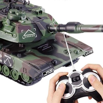 Electronic Boy Toys 1:32 Military War RC Battle Tank Heavy Large Interactive Remote Control Toy Car with Shoot Bullets Model 1 32 rc war tank tactical vehicle main battle military remote control tank with shoot bullets model electronic hobby boy toys
