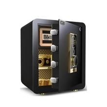 Домашний Strongarmer Сейф Кодовый отпечаток пальца электронные шкафы для хранения полный стальной Бытовой настенный ящик 38x45x31 см