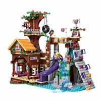 Amigos aventura campamento casa del árbol modelo Emma Mia Compatible con Legoinglys amigos 41122 figura modelo Buildingtoy Hobby para niños