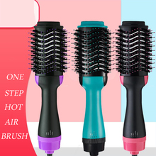 цены Pro One Step Hair Dryer Brush Volumizer 2 in 1 Hair Straightener Curler Blow Dryer Hot Air Bursh Curling Iron Hair Styler