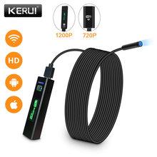 KERUI-minikamera endoskopowa, wiFi, wodoodporna, miękki kabel inspekcja, 8 mm, 1 m, USB, boroskop, iOS, do iPhone'a