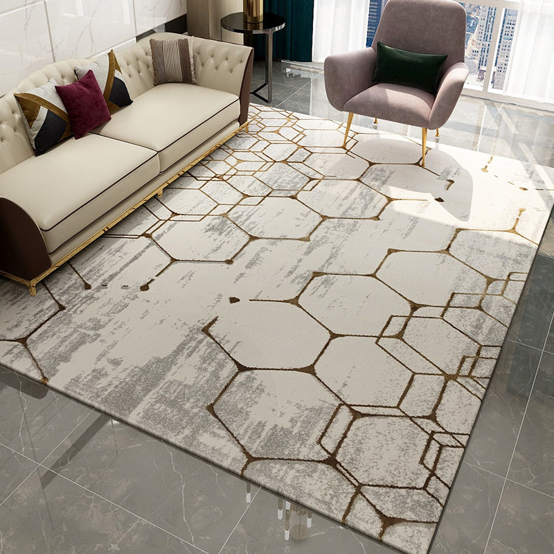 Thick Polypropylene Carpets For Living Room Decorative Bedroom Carpet Sofa Coffee Table Floor Rug Modern Nordic Office Floor Mat