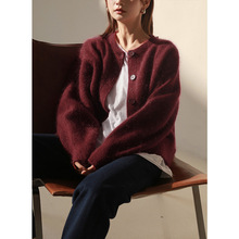 33 Wool+ 33 Mohair Womens Sweater Ladies Winter Kn