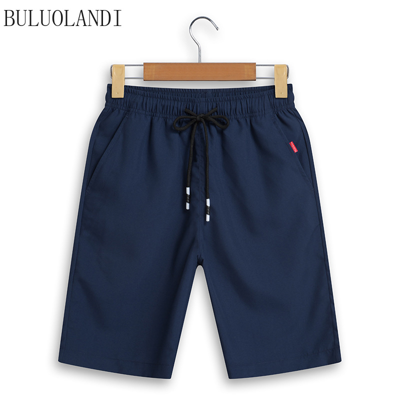 Summer New Shorts Men's Five-point Pants Loose Large Size Beach Men's Summer Casual Sports Pants Knee Length Solid