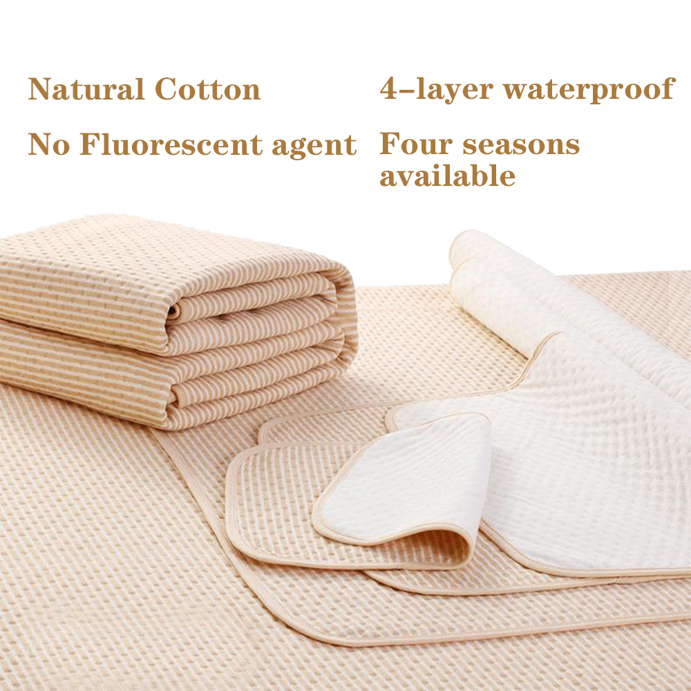 Waterproof Organic Cotton Baby Diapers Changing Mat Washable Covers Portable Sheets Newborn Infant Breathable Urine Pad