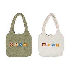 Image 2 - Bolsa Feminina קיבולת גדולה קניות תיק מתקפל לשימוש חוזר תיק כתף להסרה אפליקצית יד נשים של Tote מקרית