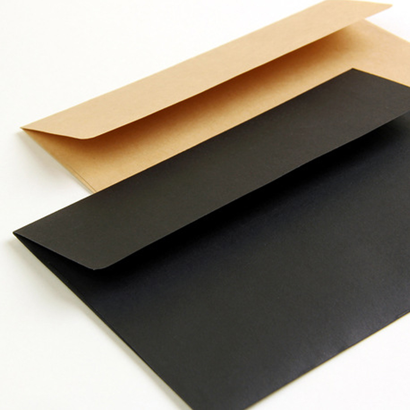 100pcs / Lot , Vintage Blank Kraft Envelopes As Gift Envelopes For Birthday Wedding