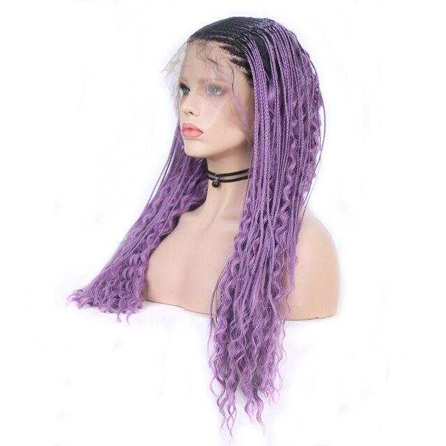 Charyzma 13X6 czarne peruki odporne na ciepło włosy pleciony peruka środkowa część syntetyczna koronka peruka front z dzieckiem włosy koronkowe peruki dla kobiet