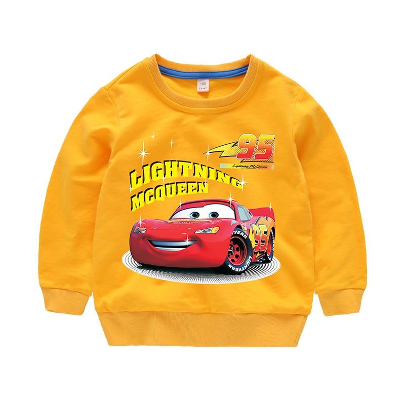Disney Cars Sweatshirt Cotton Boy Sweatshirt Child Lightning McQueen Sweatshirt 6