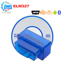 Super Mini ELM327 Bluetooth V2.1 OBD 2 voiture outil de Diagnostic ELM 327 2.1 obd2 lecteur de code pour Android/Symbian pour les protocoles OBDII