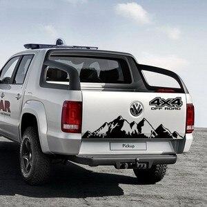 Image 2 - Für Volkswagen Amarok 4X4 OFF ROAD Styling Berg Grahpics Vinyl Aufkleber Auto Schwanz Streifen Pickup Stamm Auto Hinten dekor Aufkleber