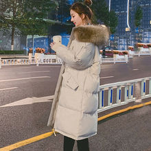 2021 Winter Jacket New Loose Cotton-padded Jacket Women's Mid-length Thickened Student Down Padded Jacket Korean Padded Jacket