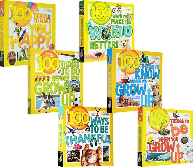 6 Books National Geographic 100 things to 100 ways to Picture book kids English Early education