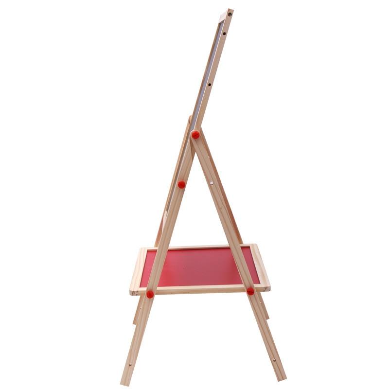 1PC Frühen Kindheit Bildung Farbe Magnetischen Reißbrett Staffelei Schreiben Tafel Halterung Heben Holz Große Spielzeug - 2