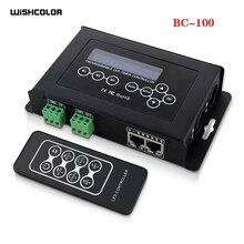 Wishcolor BC 100 DMX512 contrôleur de lumière lumière LED bande rvb contrôle DC9V LCD affichage RF sans fil à distance