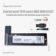 החדש 128GB 256GB 512GB 1TB 2TB SSD עבור Mac 2014 מיני A1347 עם SSD בתוספת ממיר בתוספת כלי להוסיף שני מוצק מדינת כונן ssd