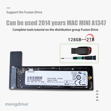 New 128GB 256GB 512GB 1TB 2TB SSD for Mac 2014 Mini A1347 with SSD plus converter plus tool Add a second solid state drive ssd