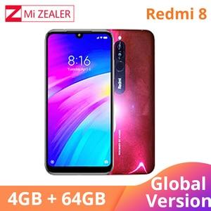 Image 4 - 2019 Global Versie Xiao Redmi 8 Smartphone 4GB RAM 64GB ROM Snapdragon 439 10W Snel Opladen 5000 mah Batterij Mobiele Telefoon