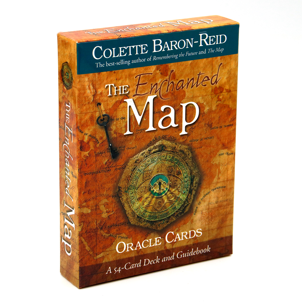 The Enchanted Map Oracle Cards 54 Cards Deck And Guidebook Colette Baron Travel Along The Journey Your Life Game Tarot Toy
