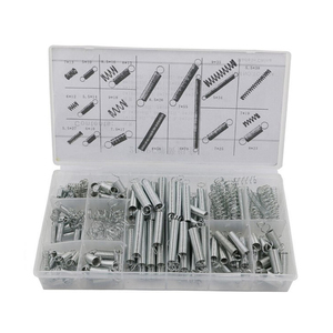 200pcs Metal Steel Tension Extension And Compression Pressure With Storage Box Repairs Coil Portable Hardware Tool Spring Set