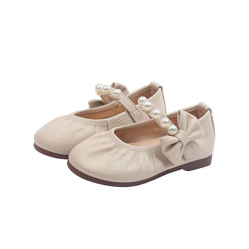 outono meninas novo arco princesa perola sapatos 04