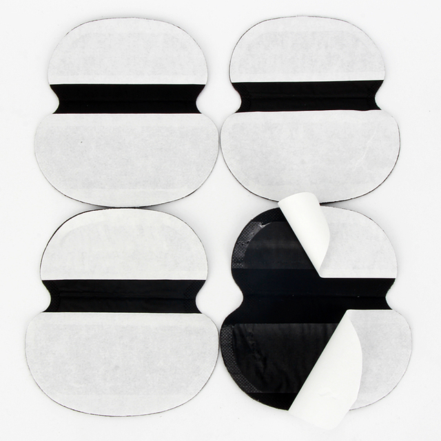 100Pcs Black Summer Underarm Absorbing Sweat Deodorant Armpit Antiperspirant Disposable Pads Dress Clothing Shield Perspiration 5