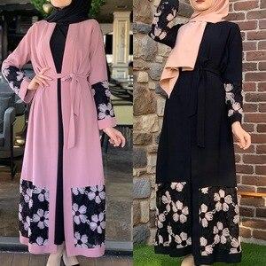 Open Abayas for Women Dubai Abaya Cardigan Muslim Hijab Caftan Dress Turkey Islamic Clothing Moroccan Kaftan De Moda Musulmana