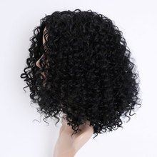 цены WTB Short Afro Kinky Curly Wigs for Women Synthetic Wigs Heat Resistant Hair Fluffy African American Natural Hair Extensions 20