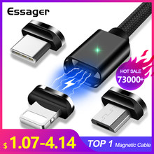 Essager Magnetic Micro USB Cable For iPhone Samsung Fast Charging Data Wire Cord Magnet Charger USB Type C 3m Mobile Phone Cable(China)