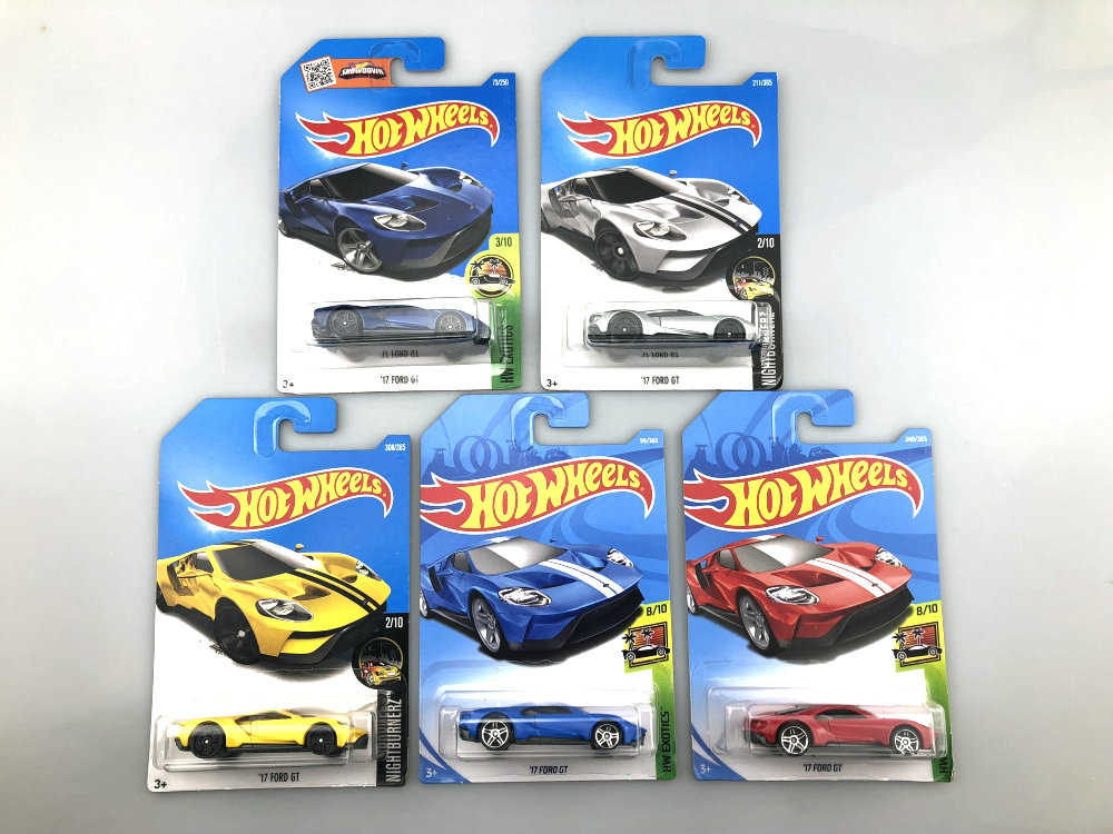 Hot Wheels 1:64 Car 17 FORD GT Collector Edition Metal Diecast Cars Collection Kids Toys For Gift