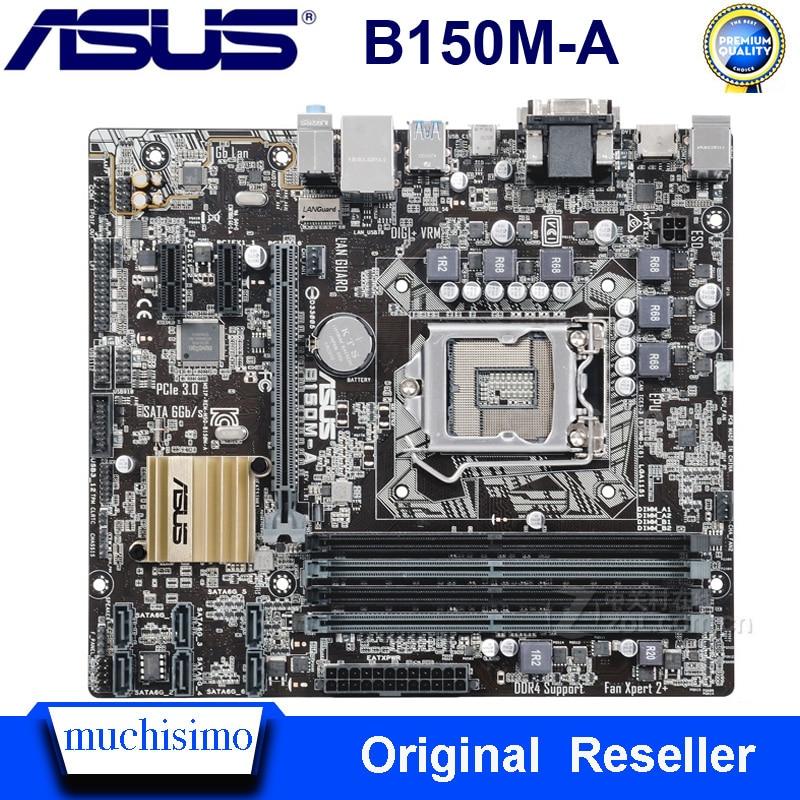 Used Asus B150M-A Motherboard DDR3 Desktop Socket LGA 1151 DDR3 B150 SATA3 USB3.0 Intel B150 Asus B150 Mainbaord 64GB Micro ATX