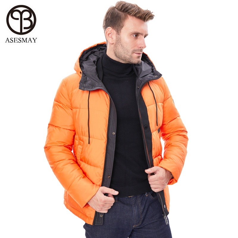 Asesmay 2019 New Men Winter Jackets Stylish Down Coat Male Thick Warm Fashion Coats Hooded Parka Man Clothing Brand Outerwear in Parkas from Men 39 s Clothing