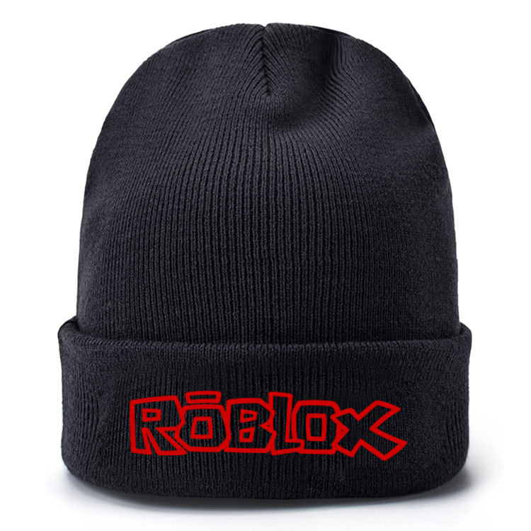 Autumn Winter Roblox Game Wool Hat Embroidered Knit Hat Pullover Hat Hip Hop Skiing Outdoor Warm Hat For Adults Women Men Male