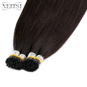 Image 4 - Neitsi  Remy I Tip Human Hair Extensions Double Drawn Stick Hair Natural Straight 24 inches