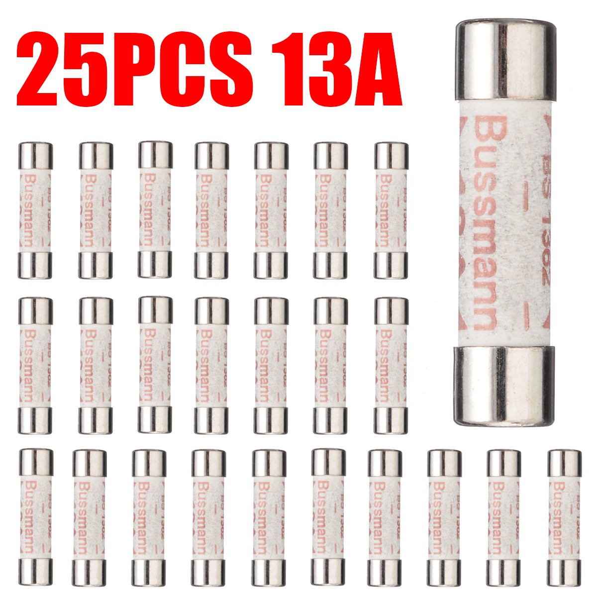 10 x 3 A Fuses Main Plug Electrical Fuse Domestic British Standards Household