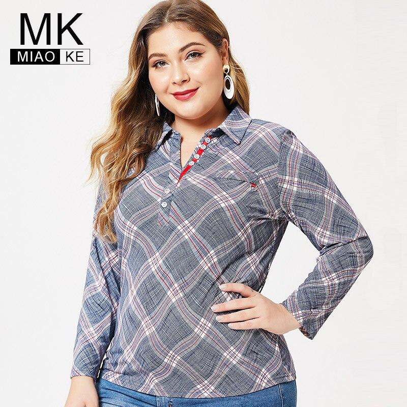 MK 2019 Autumn Plus Size Womens Long Sleeve Pullover Tops And Blouses Fashion Ladies Femal Elegant T-shirt