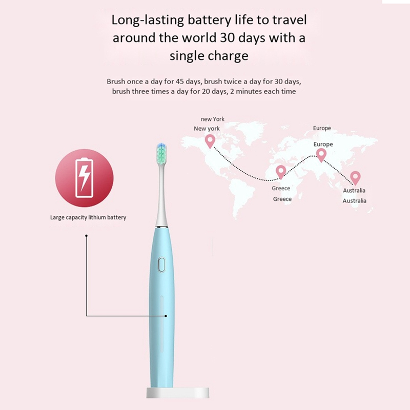 5 Modes Sonic Electric Toothbrush Rechargeable USB Ultra Sonic Tooth Brush Waterproof for Adults Teeth Whitening