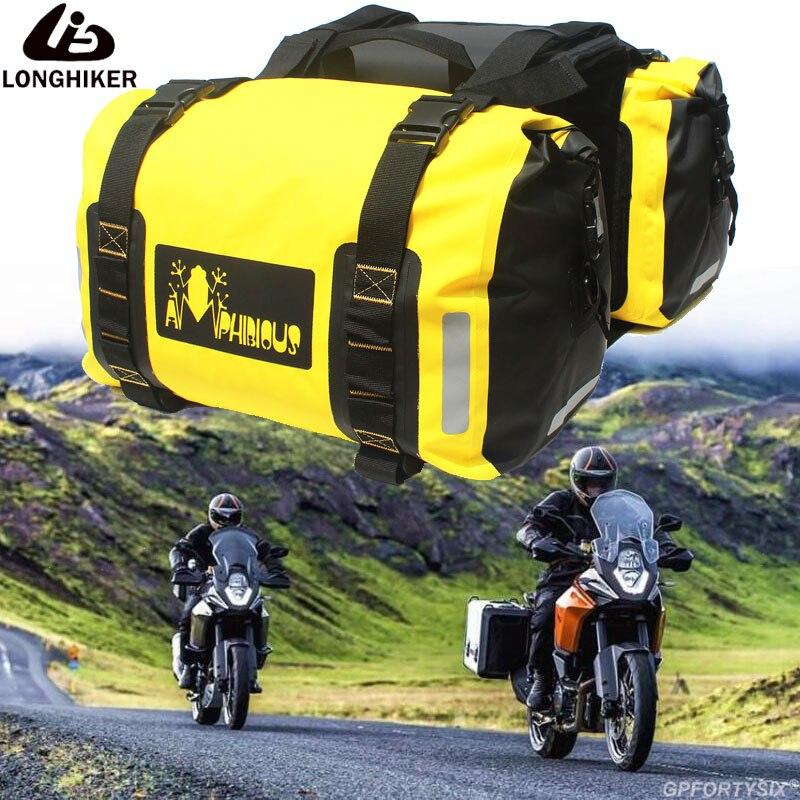 2 шт., водонепроницаемые мотоциклетные сумки на заднее сиденье, 60 л