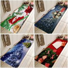 Creative Christmas Rug  Door Mat Hallway Carpets Area Rugs for Bedroom Living Room Carpet Kitchen Bathroom Anti-Slip Floor Mats