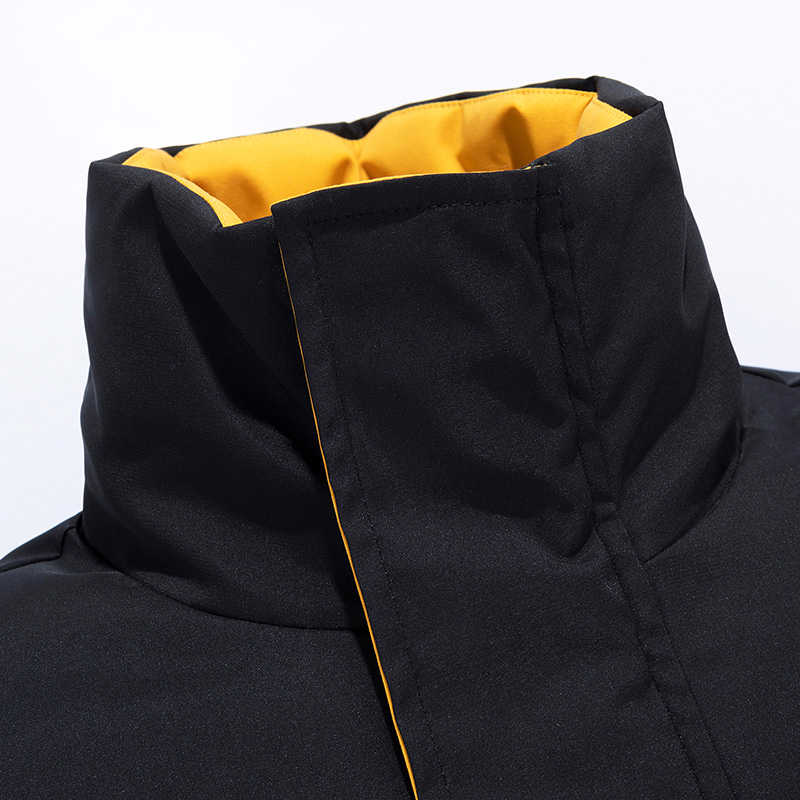6XL גברים 2019 חורף חדש מזדמן עבה כותנה עמיד למים כיסי מעיילי מעיל גברים אופנה להאריך ימים יותר Windproof חם Parka מעיל גברים