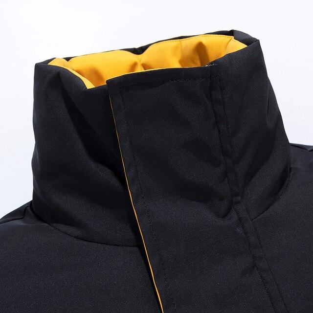 6XL Men 2019 Winter New Casual Thick Cotton Waterproof Pockets Parkas Jacket Men Fashion Outwear Windproof Warm Parka Coat Men Others Men's Fashion