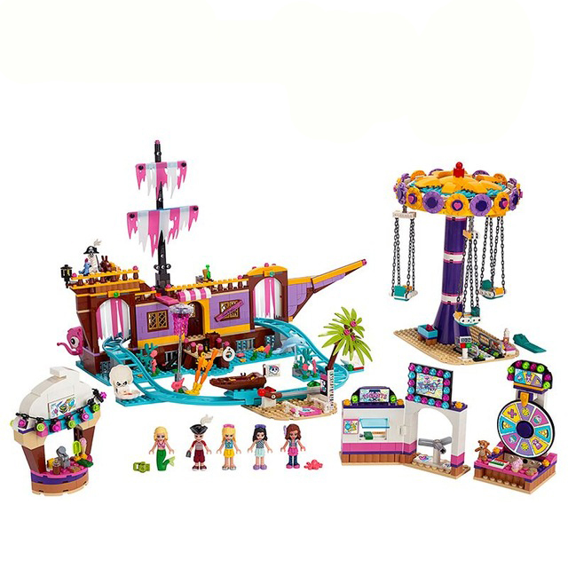 New Friends Set Amusement Park Fit For Friends 41375 Model Building Block Bricks DIY Toys For Girl Christmas Gifts