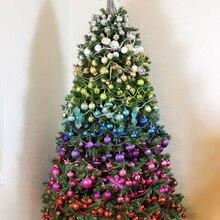 34 шт. Рождественское украшение для дома светильник пластиковые шарики natal деко одна насадка barrel ball 4 см 2021 подвесной кулон на новый год