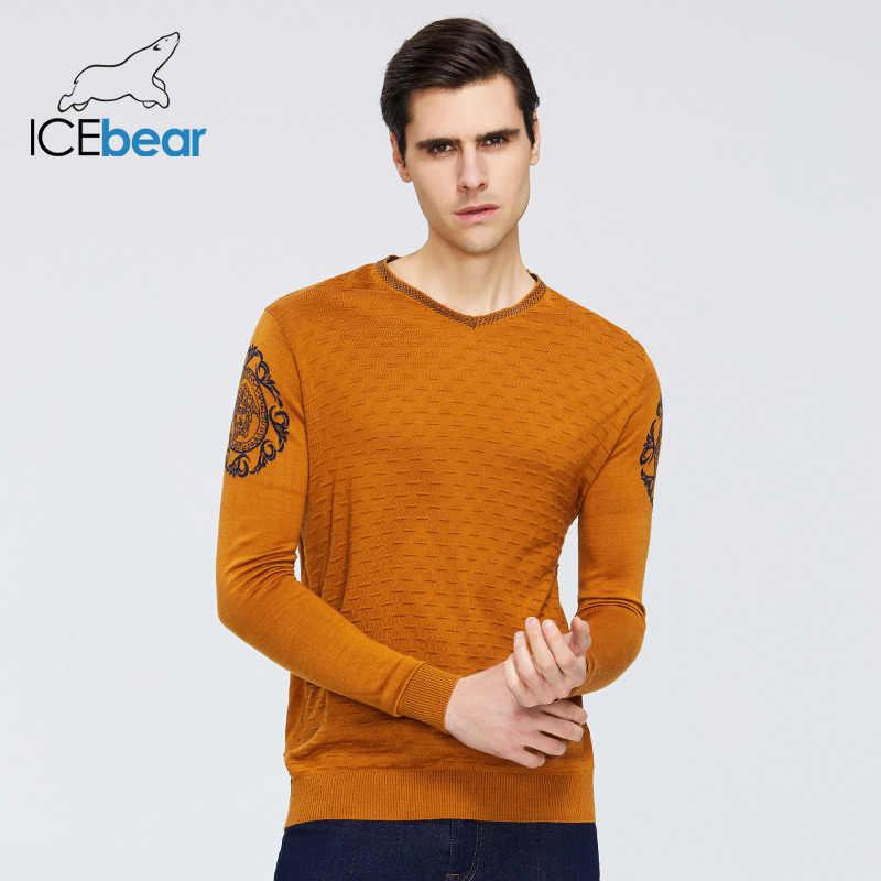 Icebear 봄 2020 새로운 남성 스웨터 따뜻한 o 목 스웨터 브랜드 의류 9003
