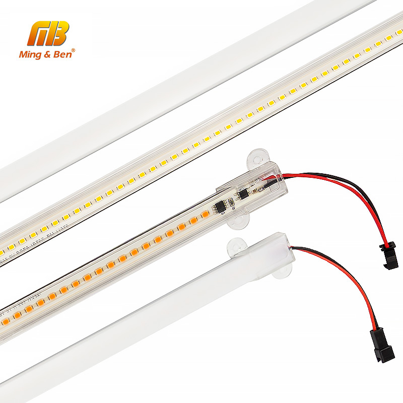<font><b>LED</b></font> <font><b>Bar</b></font> Light 220V 30cm 50cm SMD2385 72LEDs <font><b>LED</b></font> Strip Clear Shell Milky White Shell Kitchen Under Cabinet Warm White Cold White image