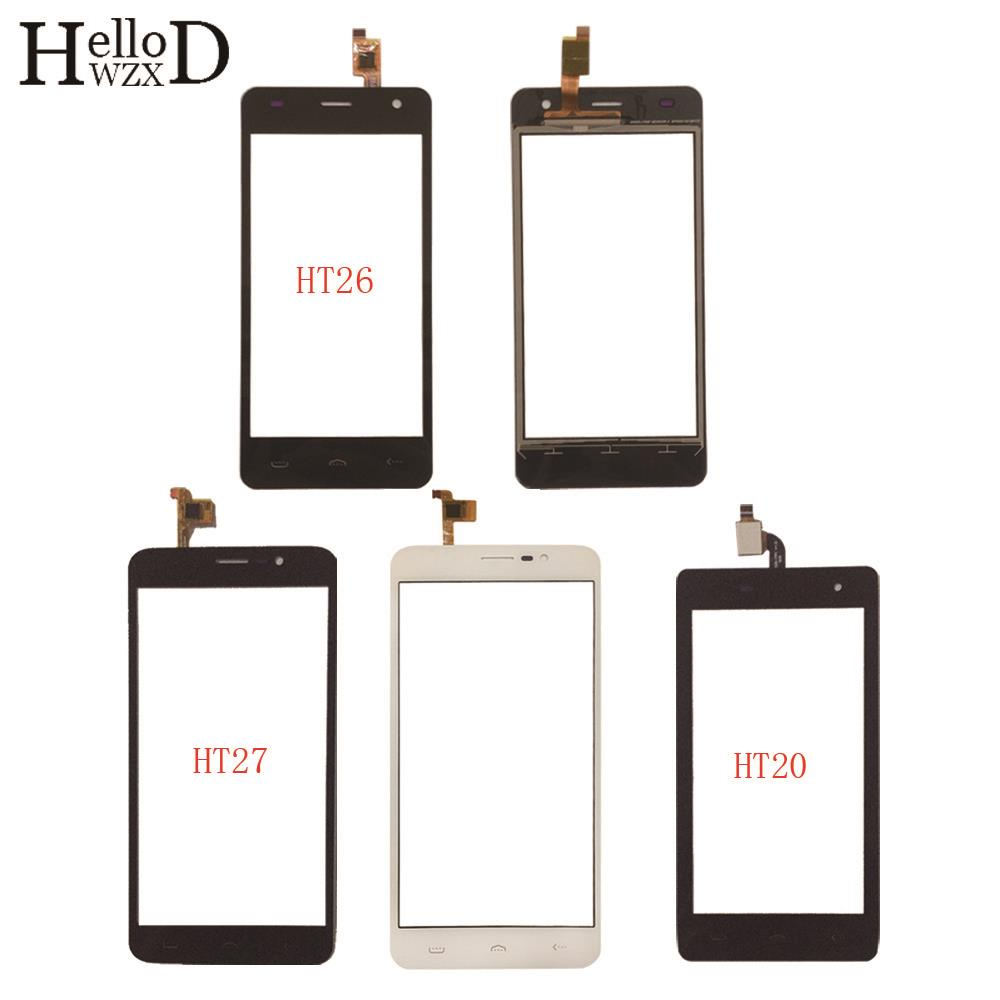 Mobile Touch Screen Panel For Homtom HT20 HT26 HT27 TouchScreen Digitizer Panel Sensor Touch Screen Front Glass 3M Glue Wipes