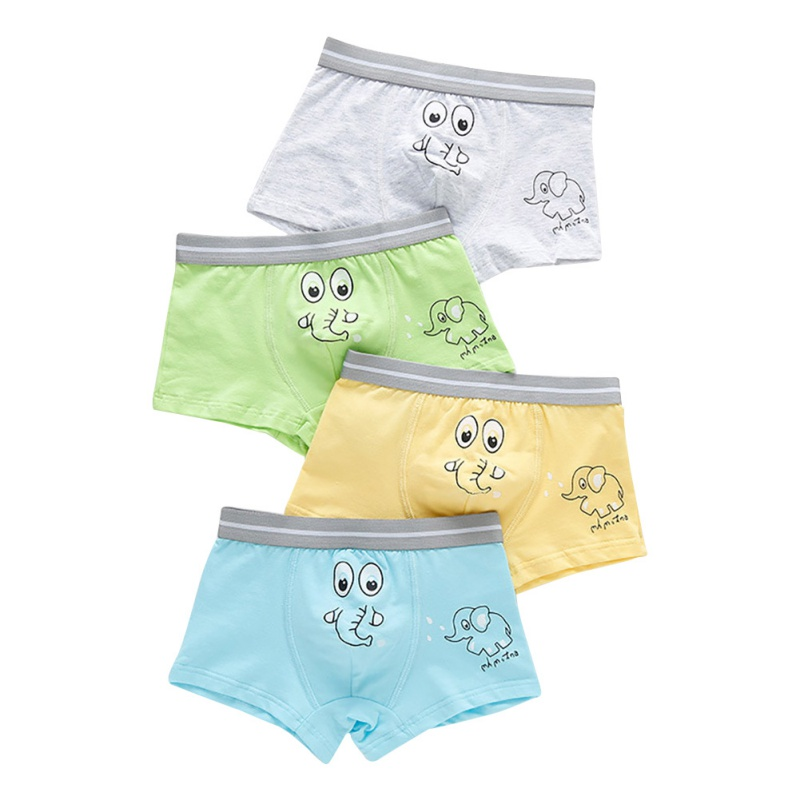 4Pcs Baby Boys Underwear Cotton Panties Children Cartoon Animal Print  Boxer Briefs Shorts Toddler Kids Bottoms 2019
